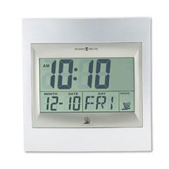 Howard miller - radio control techtime ii lcd wall/table alarm clock, silver, sold as 1 ea