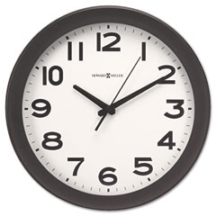 Howard Miller Clock 625-485 Kenwick Wall Clock, 13-1/2In, Black