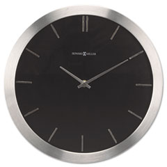 Howard Miller Clock MIL625486 Stanton Wall Clock, 11-3/4in, Brushed Nickel