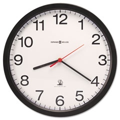 Howard Miller Clock MIL625488 Vero Wall Clock, 12-1/4in, Black