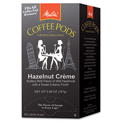 Melitta - coffee pods, hazelnut cream (hazelnut), 18 pods/box, sold as 1 bx