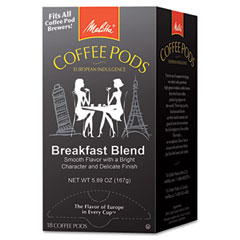 Melitta - one:one coffee pods, breakfast blend, 18 pods/box, sold as 1 bx