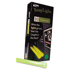 "MLE 151848 Snaplights, 6""L X 3/4""W, Green, 10/Pack"