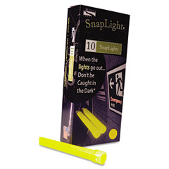 "MLE 151849 Snaplights, 6""L X 3/4""W, Yellow, 10/Pack"