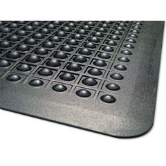 Guardian - flexstep rubber antifatigue mat, polypropylene, 24 x 36, black, sold as 1 ea
