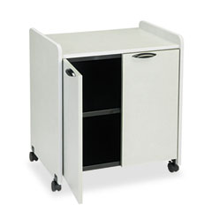 Mayline 2110MUNGB Mobile Utility Cabinet, 27W X 20D X 31H, Nebula Gray/Black