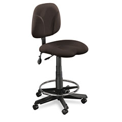 Mayline 4005AG2110 Comfort Series Adjustable Swivel Task Stool, Gray Fabric