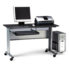 Mayline 8100TDANT Eastwinds Mobile Work Table, 57W X 23.5D X 29H, Anthracite