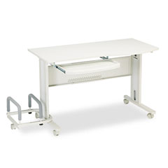 Mayline 8100TDGRYGRY Eastwinds Mobile Work Table, 57W X 23.5D X 29H, Gray/Gray