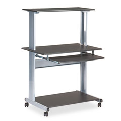 Mayline 8350MRANT Eastwinds Multimedia Workstation, 36.75W X 21.25D X 50H, Anthracite
