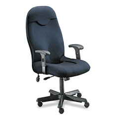 Mayline - comfort series executive high-back chair, gray fabric, sold as 1 ea