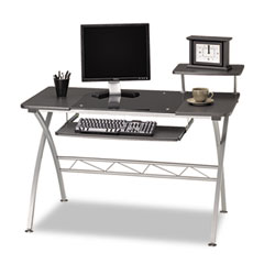 Mayline 972ANT Eastwinds Vision Computer Desk, 47.25W X 27D X 34H, Anthracite With Black Glass