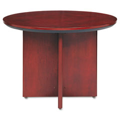 Mayline - corsica conference series round table, 42 dia. x 29?h, sierra cherry, sold as 1 ea