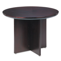 Mayline - corsica conference series round table, 42 dia. x 29?h, mahogany, sold as 1 ea
