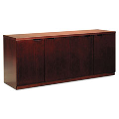 Mayline HDC2072C Luminary Series Veneer Hinged Door Credenza, 72W X 20D X 29H, Cherry
