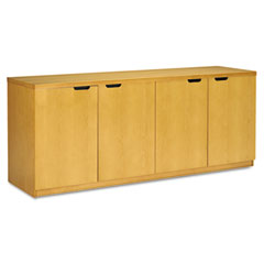Mayline HDC2072M Luminary Series Veneer Hinged Door Credenza, 72W X 20D X 29H, Maple