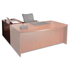 Mayline - mira series wood veneer return, 48w x 24d x 29?h, medium cherry, sold as 1 ea