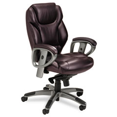 Mayline UL330MBUR Ultimo 300 Series Mid-Back Synchro Tilt Chair, Burgundy Leather