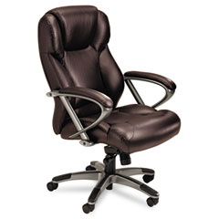 Mayline UL350HBUR Ultimo 300 Series High-Back Swivel/Tilt Chair, Burgundy Leather