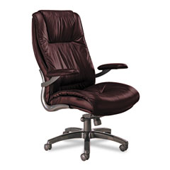 Mayline ULEXBUR Ultimo 100 Series High-Back Swivel/Tilt Chair, Burgundy Leather