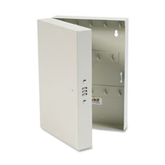"MMF 201202889 Hook-Style Key Cabinet, 28-Key, Steel, Putty, 7 3/4"" X 3 1/4"" X 11 1/2"""