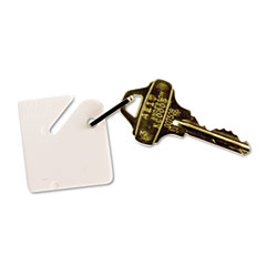 Mmf industries - numbered slotted rack key tags, plastic, 1-1/2 x 1-1/2, white, 20/pack, sold as 1 pk