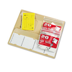 "MMF 201304003 File Drawer Key Rack, 40-Key, Molded Plastic, Sand, 12"" X 1 3/4"" X 10"""