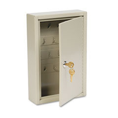 "MMF 201803003 Dupli-Key Two-Tag Cabinet, 30-Key, Welded Steel, Sand, 8"" X 2 1/2"" X 12 1/8"""