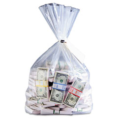 MMF 206410520 Currency Deposit Bags, 12 X 20, Clear, 100/Box