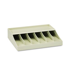 Mmf industries - bill strap rack, 6 pockets, 10-5/8-inch w x 8-5/16-inch d x 2-5/16-inch h, putty, sold as 1 ea
