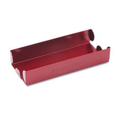 Mmf industries - rolled coin aluminum tray w/denomination & quantity etched on side, red, sold as 1 ea