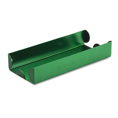 MMF 211011002 Rolled Coin Aluminum Tray W/Denomination & Quantity Etched On Side, Green
