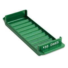 Mmf industries - porta-count system rolled coin plastic storage tray, green, sold as 1 ea