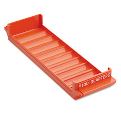 Mmf industries - porta-count system rolled coin plastic storage tray, orange, sold as 1 ea