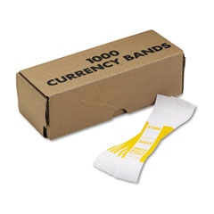 MMF 216070G12 Self-Adhesive Currency Straps, Yellow, $1,000 In $10 Bills, 1000 Bands/Box