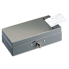 Steelmaster by mmf industries - steel bond box with check slot, disc lock, gray, sold as 1 ea