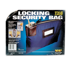 Mmf industries - seven-pin security/night deposit bag w/2 keys, nylon, 8-1/2 x 11, navy, sold as 1 ea