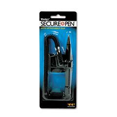 MMF 28208 Wedgy Clip Ballpoint Counter Pen, Blue Ink, Medium