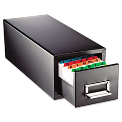 Steelmaster by mmf industries - drawer card cabinet holds 1,500 5 x 8 cards, 9 7/8 x 18 1/8 x 9, sold as 1 ea