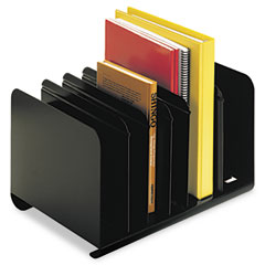 Steelmaster by mmf industries - six-section adjustable book rack, steel, 15 x 11 x 8 7/8, black, sold as 1 ea