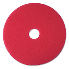 "3M 08387 Buffer Floor Pad 5100, 12"", Red, 5 Pads/Carton"
