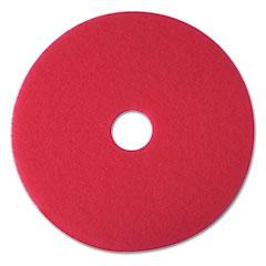 "3M 08387 Buffer Floor Pad 5100, 12"", Red, 5 Pads/Carton"