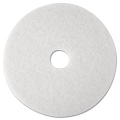 "3M 08476 Super Polish Floor Pad 4100, 12"", White, 5 Pads/Carton"