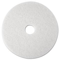 "3M 08476 Super Polish Floor Pad 4100, 12"", White, 5 Pads/Carton"