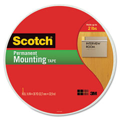 Scotch - foam mounting tape, 3/4-inch, 1368-inch long, sold as 1 rl