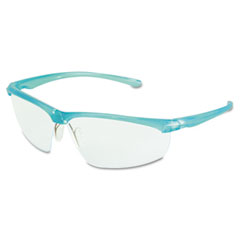 3m - refine 201 safety glasses, wraparound, clear antifog lens, teal frame, sold as 1 ea