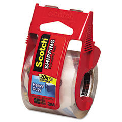 Scotch - 3850 heavy duty packaging tape in sure start dispenser, 2-inch x 22 yds, clear, sold as 1 rl