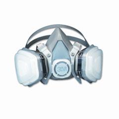 3m - dual cartridge respirator assembly 52p71, organic vapor/p95, medium, sold as 1 ea