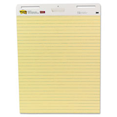 Post-it easel pads - self-stick easel pad, ruled, 25 x 30, yellow, 2 30-sheet pads/carton, sold as 1 ct