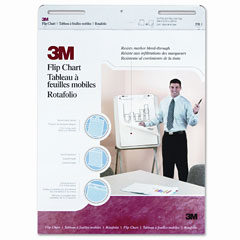 3m - professional flip chart pad, unruled, 25 x 30, white, 40 sheets/pad, 2/carton, sold as 1 ct